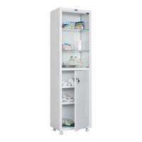 Медицинский шкаф одностворчатый HILFE МД 1 1650/SG