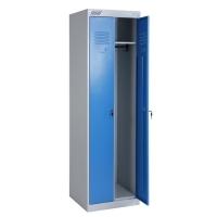 Шкаф металлический для одежды ШРЭК 22-530, двухсекционный разборный